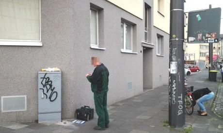 und ein Mitarbeiter des 'Stadtzeichen' Projekts. [ ja, ...links :-) ]